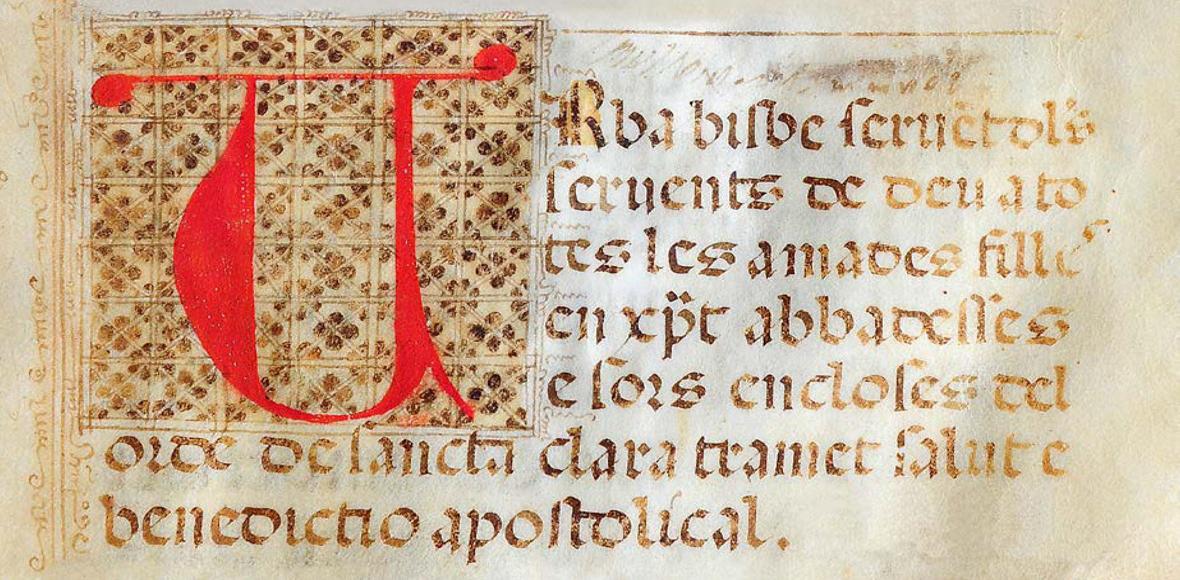 Manoscritto Santa Chiara